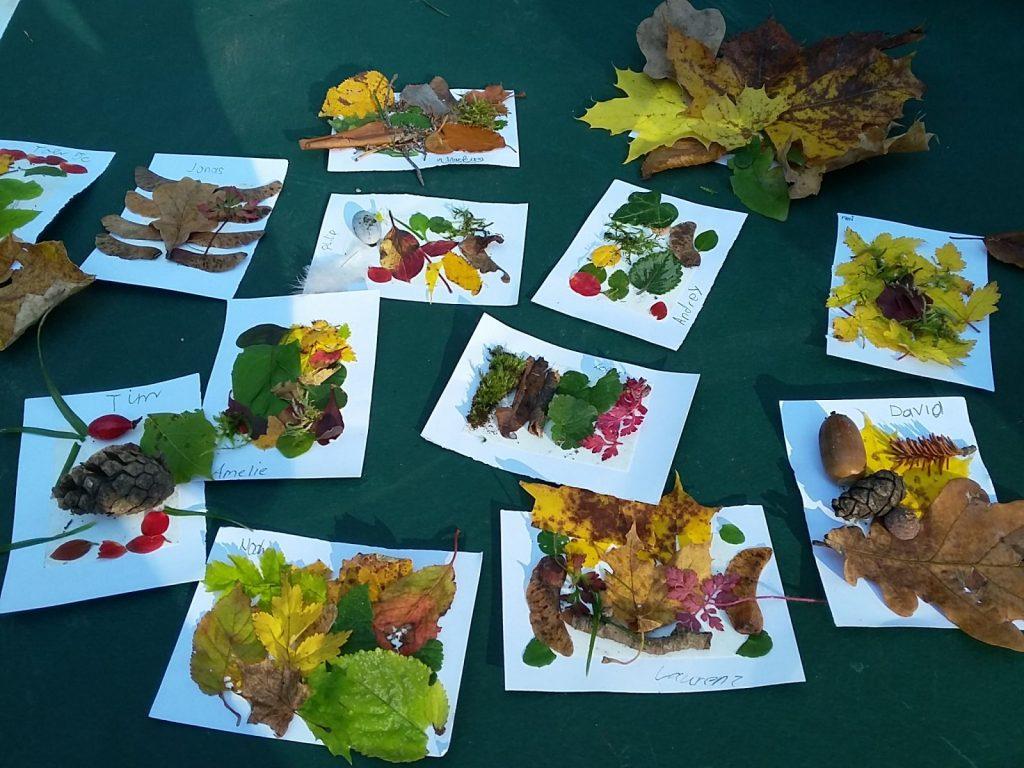 Herbstliche Farbkarten